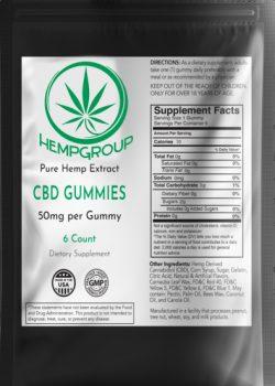 CBD Gummies 50mg  6 ct